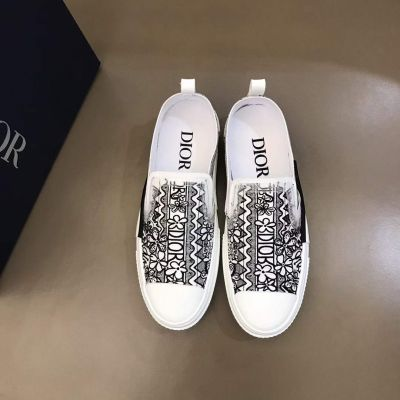 Latest Fashion Dior Shawn Stussy Embroider Motif Men Canvas White Rubber Sole Outdoor Recreation Shoes