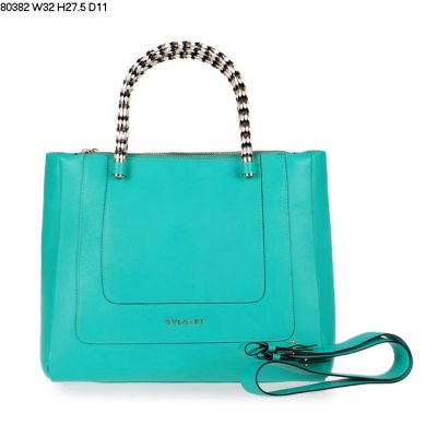 2017 Most Popular Bag Bvlgari Serpenti Tote Calfskin Leather Green Two Snake Body Type Handle Straps