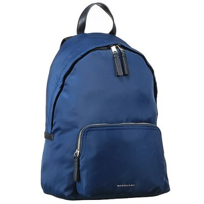 Unisex Blue Burberry 40379611 Abbeydale Canvas Backpack Good Reviews