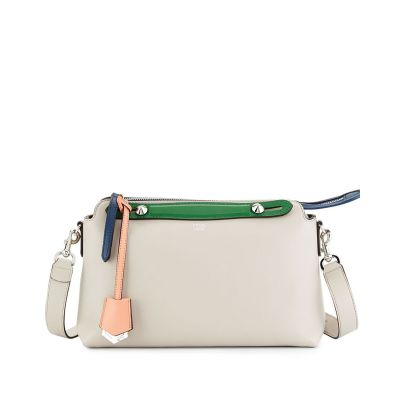 Multicolor Fendi Arrow-shaped Charm Ladies Small Leather Zipper By The Way Shoulder Bag Replica White
