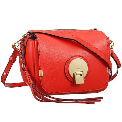 Hot Selling Chloe Indy Small Orange Leather Camera Bag Womens