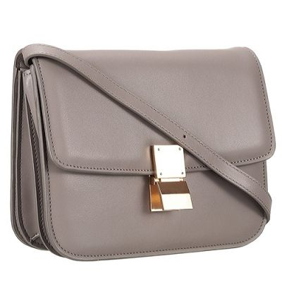 Fake Celine Womens Sought-after Gry Classic Box Bag Gold Hardware