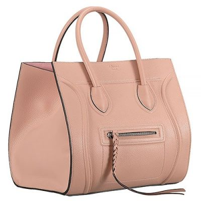 Celine Luggage Phantom Latest Nude Pink Tote Leather Trimmings Low Price