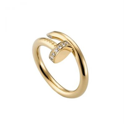 Cartier Juste Un Clou Ring Copy Diamonds 18K Yellow Gold Plated B4216900 Cheap Price For Sale