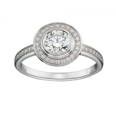 Cartier D'Amour Solitaire Diamonds Ring Replica N4244400 Wedding Engagement Band Birthday Gift
