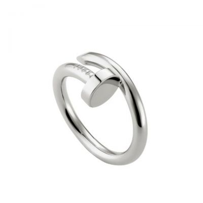 Cartier Juste Un Clou Ring B4099200 18K White Gold Plated Vogue Fashion Jewellery UK Sale