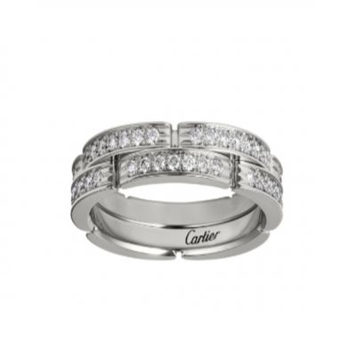 Cartier Maillon Panthere 2 Half Diamond-Paved Rows Wedding Band High-End Wholesale Women Jewelry B4098800/B4098900