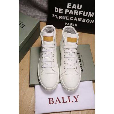 2017 New Bally Tassel Design Mens Fashion Calfskin Leather High-Top Lace-up Sneaker USA