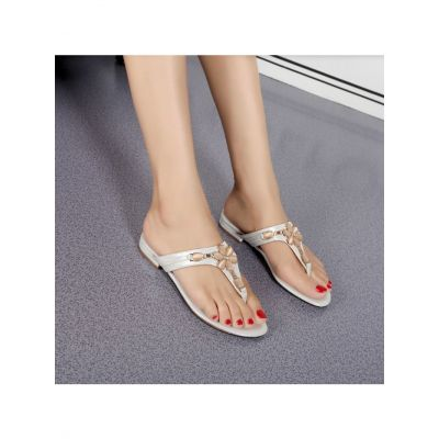 Top Sale Hermes Rubber Sole Luxury Crystal Trimming Ladies PU Sandals Flat Slides Shoes Black/White