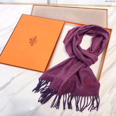 Hermes Purple Cashmere Scarves Herringbone With Tassels Wraps Shawl Price 2017 Singapore Couple Style Sale
