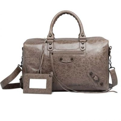 Latest Balenciaga Classic Polly Gris Poiver Leather Totes Aged Studs Leather Tassel Ladies Handbag Online