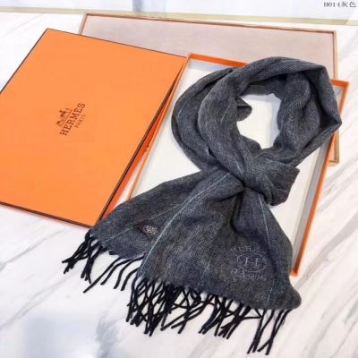Hermes Grey Cashmere Scarves Herringbone Tassels Wraps 2017 Prices For Sale UK Couple Style Autumn & Winter