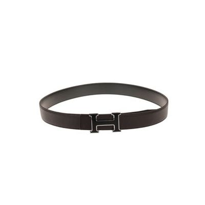 Top Sale Hermes Brown Grainy Leather Strap Large Two-tone H Buckle For Mens Replica
