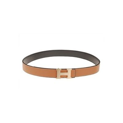 Hermes Rose Gold Buckle Earth Yellow Reversible Leather Strap Good Reviews Female Belt In Paris
