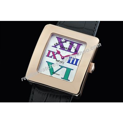 Franck Muller Infinity Reka 35mm Lady Colorful Scale 18k Champagne Gold Watch