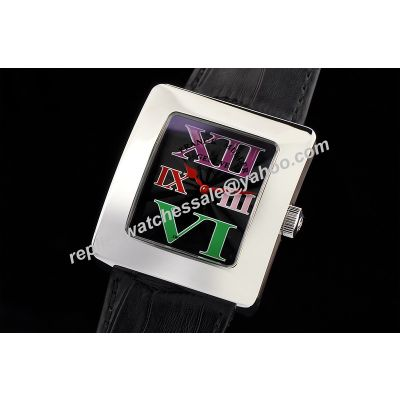 Franck Muller Infinity Reka 35mm Special Black Face Ladies'Colorful Roman Scale Watch