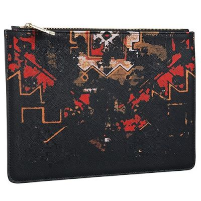 High Quality Givenchy Lady Fashion Printed Red And Black Patterns Leather Pouch Bag