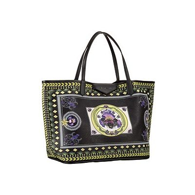Givenchy Top Quality Women's Antigona Printed Orchid Flowers Pattern Large Capacity Black Shopping Tote