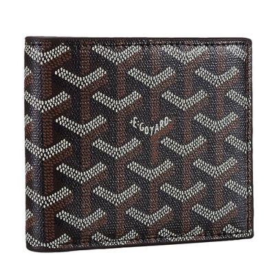 High Quality Goyard Victoire Nigger-Brown Leather Cardcase Wallet Chevron Fashion Trends