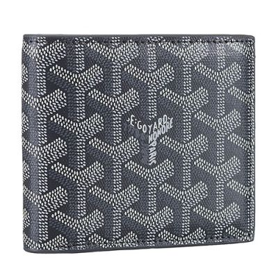 Goyard Victoire Leather Grey Card Holder Wallet Classical Series Good Reviews