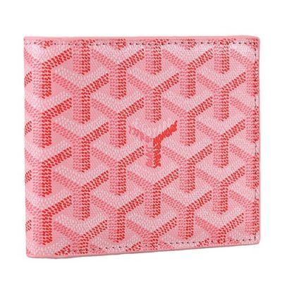 Chic Goyard Victoire Women's Calfskin Leather Pink Compact Wallet Cost Less