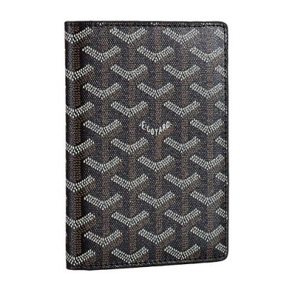 High End Goyard St Pierre Leather Passport Wallet Black Unisex Wholesale Price