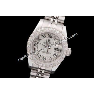 Swiss Made Rolex Lady Datejust Pearlmaster Oyster Superlative Clone White Watch
