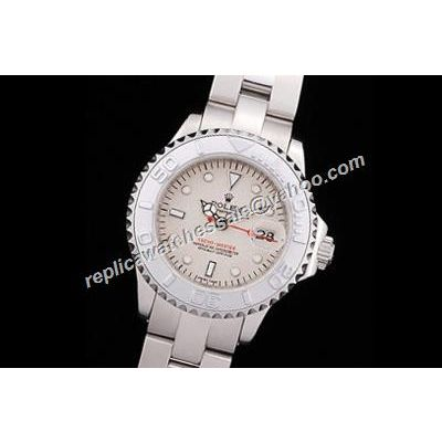 Rolex 168622-78750 Lady Yacht-Master 18K White Gold Dial Oyster Watch