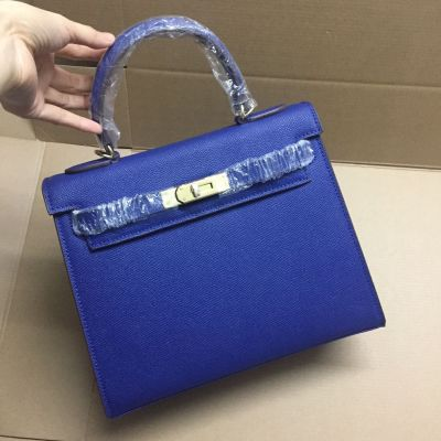 Epsom Leather 28CM Hermes Kelly Flap Tote Bag Gold Plated Hardware Leather Strap Low  Price