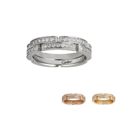 Maillon PanthereCartier Double-Deck Crystals Narrow Band Hot Sale Modern Celebrity Style Lady Jewelry B4098900/B4098800/B4216000