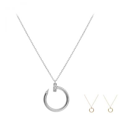 Cartier Juste Un Clou Crystals Circle Nail Pendant Necklace Paris Week Unique Women Jewelry B7224514/B7224513/B7224512