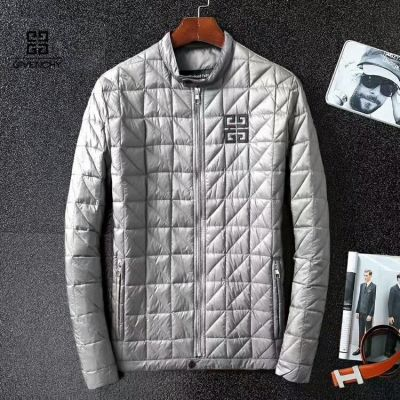 Hot Selling Givenchy Logo Embroidery Mens Cannge Quilted Stand Collar Winter Warm Zipper Outerwear Replica