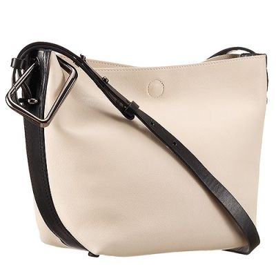 High Quality 3.1 Phillip Lim Leather White And Black A Small Interior Zipper Pocket Shoulder Bag