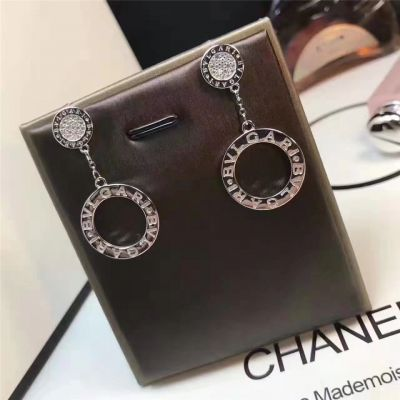 Bvlgari Bvlgari Drop Earrings Diamonds Silver Plated Latest Design Wholesale Celebrity Jewelry Gentry Girls
