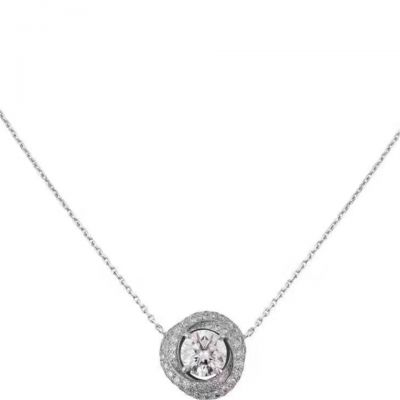 Cartier Trinity Ruban Diamond Twisted Tricyclic Pendant Necklace 925 Silver Newest Engagement Lady Jewelry N7424134