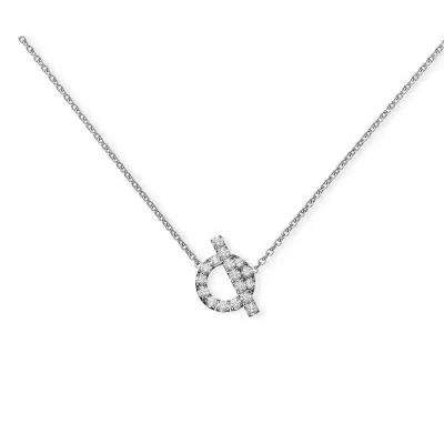 Top Sale Hermes Women Hollow Crystals Circle Pendant Ring-Necklace Jewelry Set Birthday Gift Price Singapore