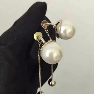Cheap Price Christian Dior Pearl Drop Earrings Unique Designer Jewellery Charming Women