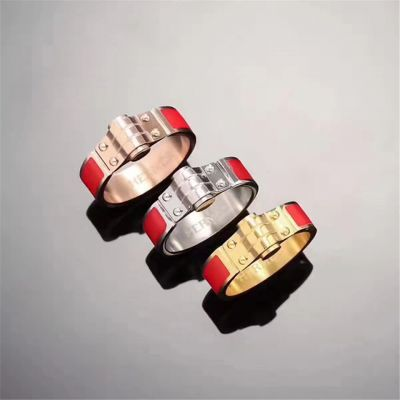 Celebrity Hermes Ring Red Theme Jewels Poly Gold Stylish Vogue Design