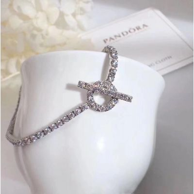 Hermes Bracelet Crystals Chain Hollow Circle Pendant Classy Style Good Reviews Price Malaysia