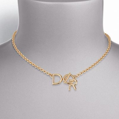 Lettre A Dior Gold Plated Necklace N0677LADMT D300 New Arrival Discounted UK