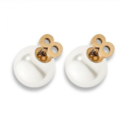 Dior Tribales Eight & Pearl Stud Earrings Replacement E0636TRIRS D908 Classic Women Daily Jewellery