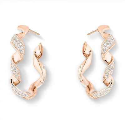 Archi Dior 18k Pink Gold Plated Diamonds Earrings Replica JDIO95008 0000 Fashion Jewellery Party Style