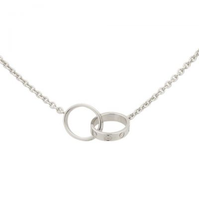 Cartier Love Sterling Silver Necklace Top Fake B7212500 With Chain Valentine's Day Gift