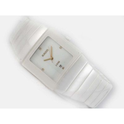 Hot Sell Rado Sintra Jubile Gold Hands Womens All White Date Watch