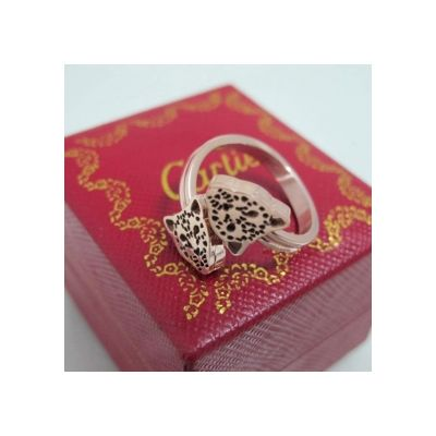 Panthere de Cartier Pink Gold Ring Adjustable Size Rare Fashion Jewellery Women