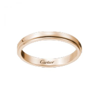 Cartier Replica D'Amour Engagement Women Rose Gold Ring Simple Classic Design Couple Style