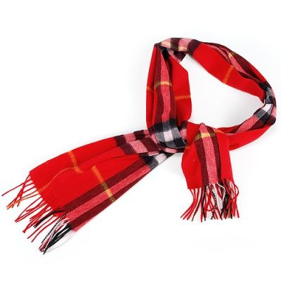 Burberry Cashmere Feel Red Check Soft Luxurious Scarf Wrap Shawl Winter Fall Women Christmas Gift