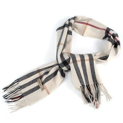 Burberry Bridal Cashmere Feel White Check With Tassels Soft Heritage High-quality Classic Scarf Fall Winter