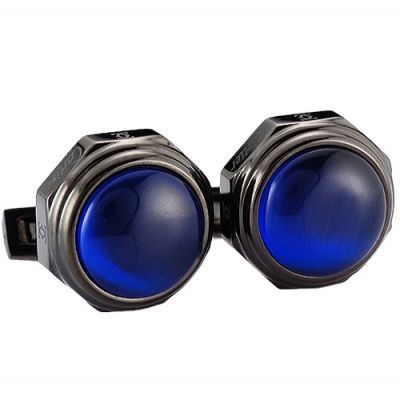 Cheapest Cartier Santos De Blue Spherical Surface Black Business Cufflinks Stylish Style