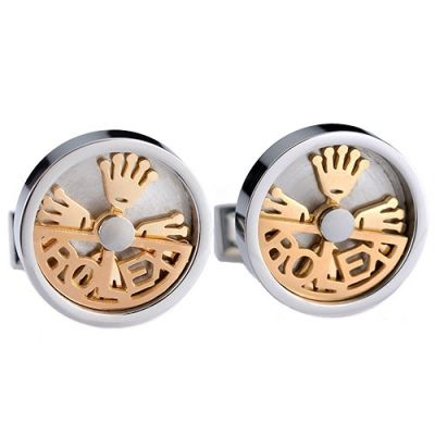 Rolex Top Sale Gold Design Logo Elegant Style Silver Round Cuff Buttons Male